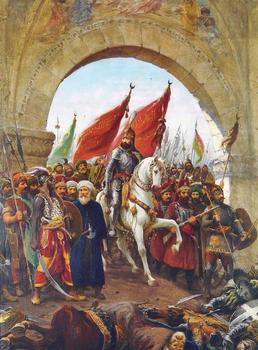 Sultan Mehmed II's entry into Constantinople, painting by Fausto Zonaro