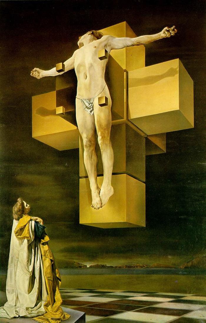 Crucifixion (Corpus Hypercubus) by Salvador Dalí (1954)