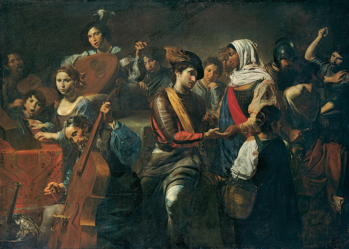 Velantin de Boljon - Muzičari i gatara 1631